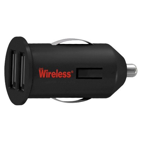 Just Wireless Dual USB Car Charger - Black - image 1 of 1