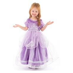 Little Adventures Girls' Deluxe Amulet Princess Dress - Purple XL