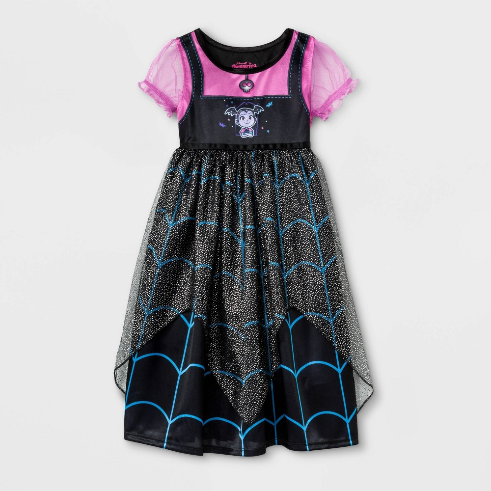 Image of Toddler Girls' Vampirina Fantasy Nightgown - Black 2T, Girl's, Size: Small