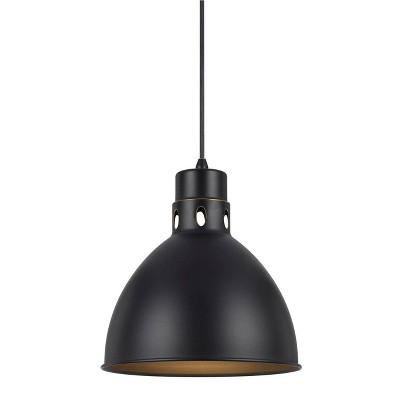 """10.75"""" x 10"""" Metal Webster Pendant Dark Bronze - Cal Lighting"""