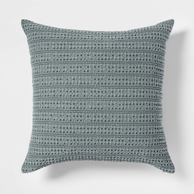 Square Washed Waffle Pillow Sage - Threshold™