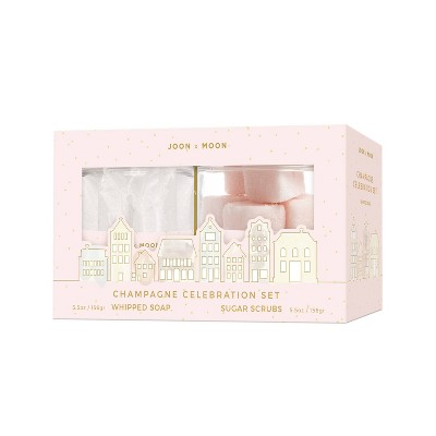 Joon X Moon Whipped Soap & Sugar Cube Gift Set - Champagne - 2pc