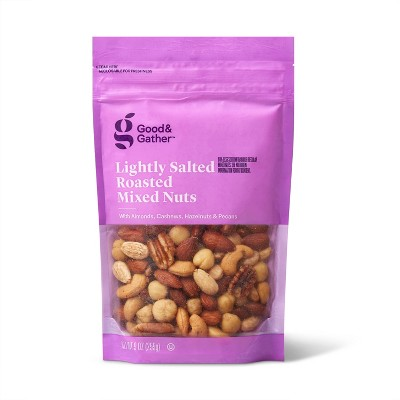 Lightly Salted Roasted Mixed Nuts- 9oz - Good & Gather™