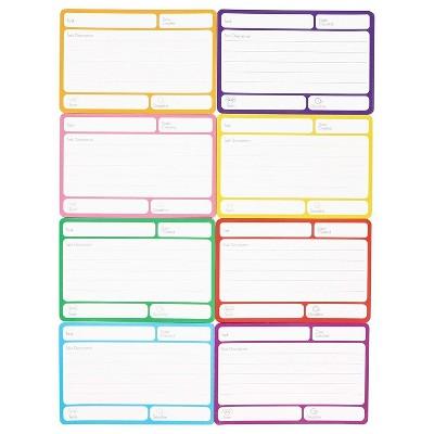 "40-Pack Magnetic Dry Erase Index Cards in 8 Colors for Assign Task & Set Deadline, 6""x4"""