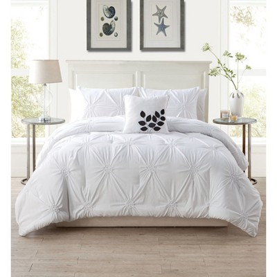 Queen London Quilt Set White - VCNY Home