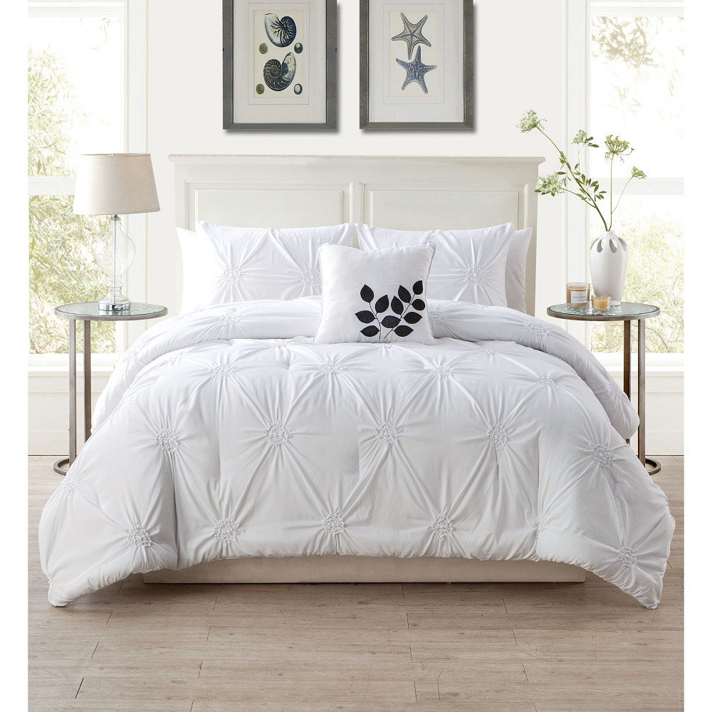 Queen London Quilt Set White - Vcny Home, Blue/Gray