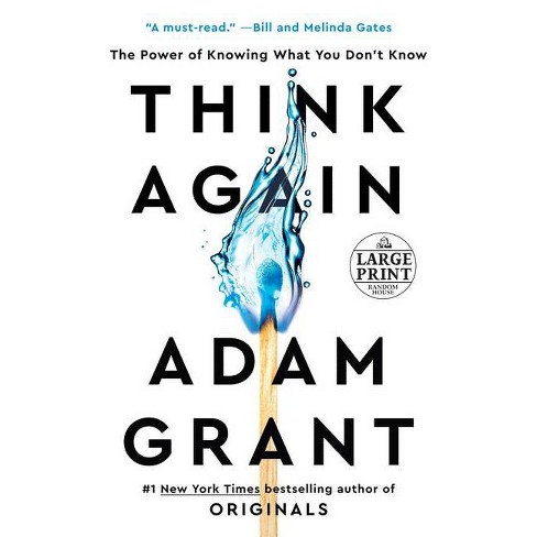 Think Again - Large Print by  Adam Grant (Paperback) - image 1 of 1