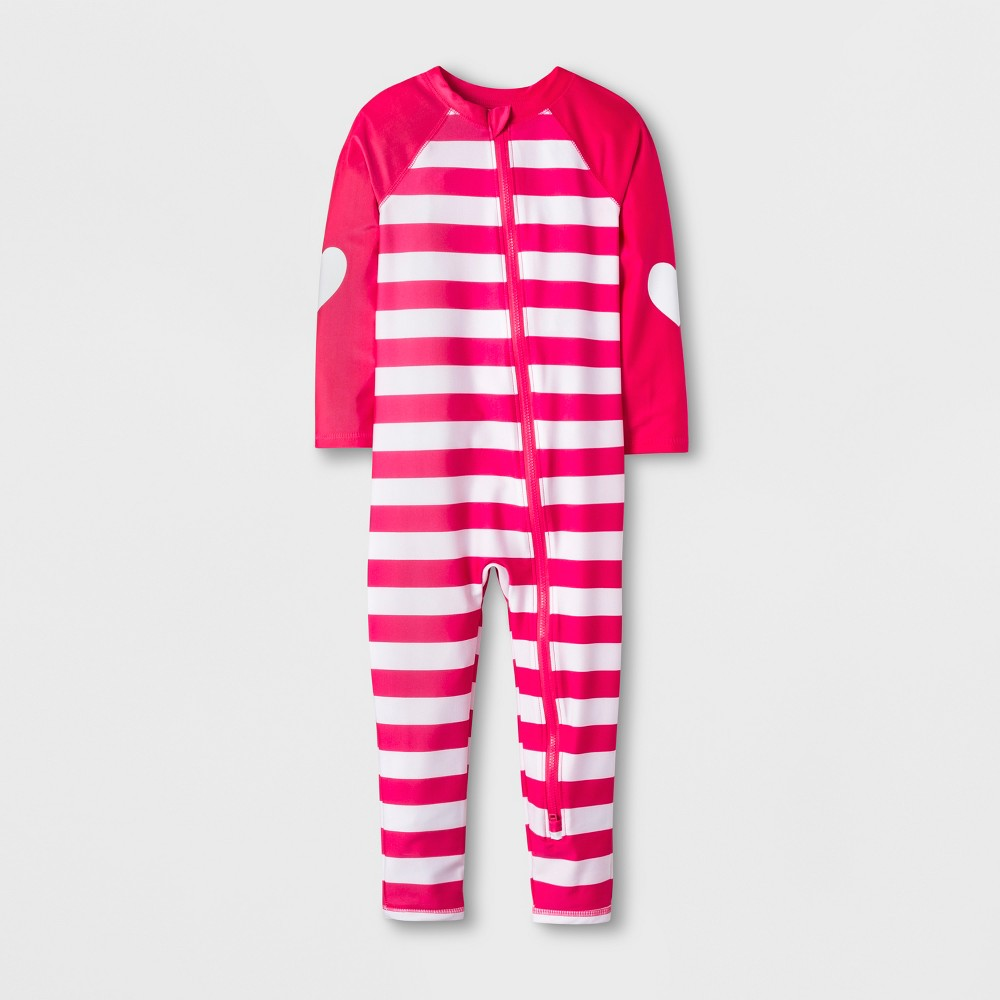 Toddler Girls' Swim Full Bodysuit - Cat & Jack Pink 6X
