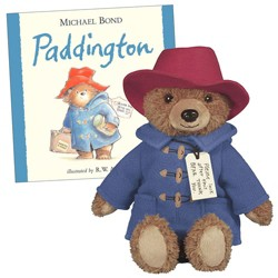 "Yottoy Paddington Bear 8.5"" Big Screen Plush Bear and Hardcover Book Set"