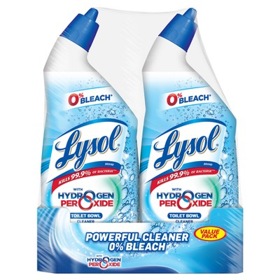 Lysol Power and Free Toilet Bowl Cleaner Value Pack, 2 x 24oz