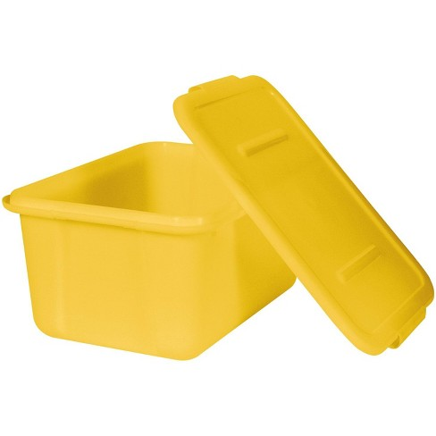School Smart Storage Tote with Snaptite Lid, 7-1/2 x 11-3/4 x 15-1/2 Inches, Yellow - image 1 of 1
