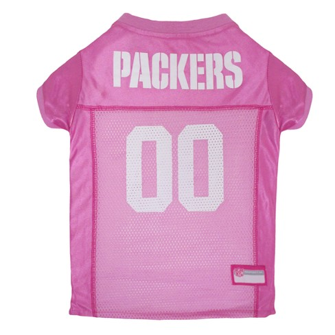 buy popular 42413 36b25 NFL Pets First Pink Pet Football Jersey - Green Bay Packers