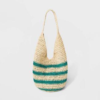 Straw Hobo Handbag - Universal Thread™ Natural