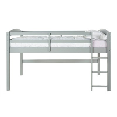 Twin Solid Wood Low Loft Bed - Saracina Home