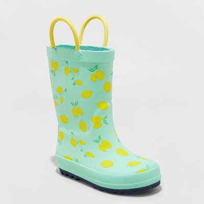 Toddler Girls' Teagan Rain Boots - Cat & Jack™ Mint