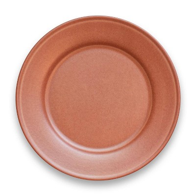 "10.5"" Melamine and Bamboo Dinner Plate Brown - Threshold™"