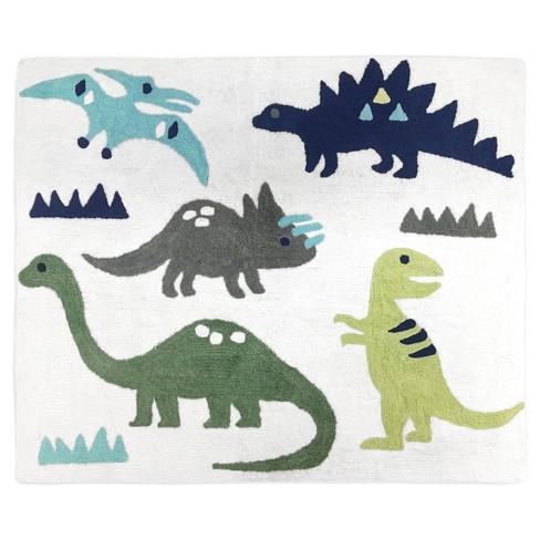 Green & Blue Dinosaur Rug (2'x3') - Sweet Jojo Designs - image 1 of 1