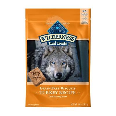 Blue Buffalo Wilderness 100% Grain-Free Biscuits Turkey Recipe Crunchy Dog Treats