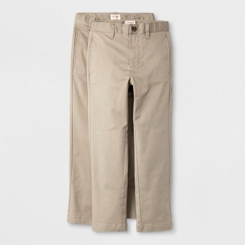 Boys' 2pk Ultimate Flat Front Uniform Chino Pants - Cat & Jack™ - image 1 of 3