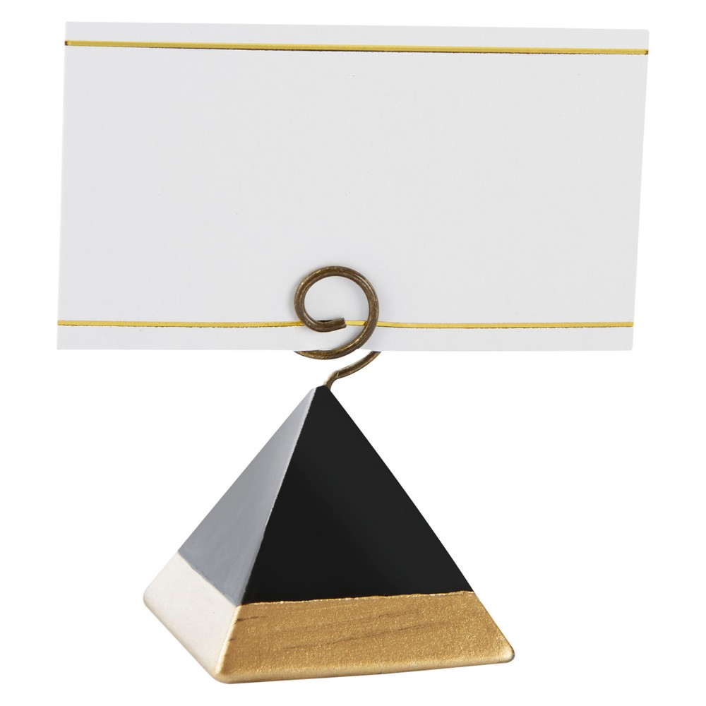 12ct Kate Aspen Gold Dipped Pyramid Place Card Holder