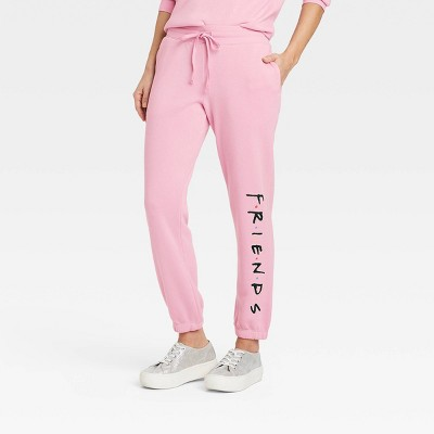 Women's Friends Logo Graphic Jogger Pants - Pink