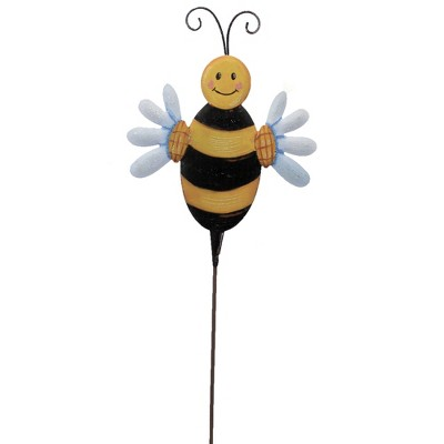"Home & Garden 32.0"" Daisy Bumble Bee Garden Decor Wall Hang Round Top Collection  -  Decorative Garden Stakes"