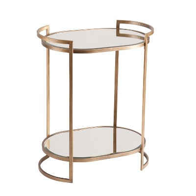 Gaynor Small Space Bar Table Gold - Aiden Lane