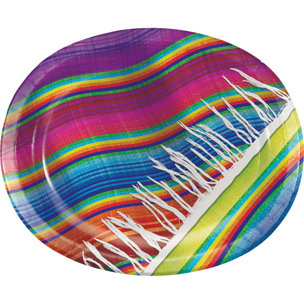 8ct Serape Oval Plates