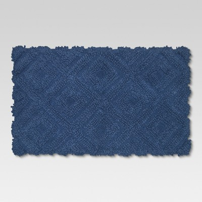Diamond Bath Rugs (20 x34 )Blue - Threshold™