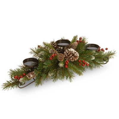 30  Frosted Berry Centerpiece and Candle Holder - National Tree Company