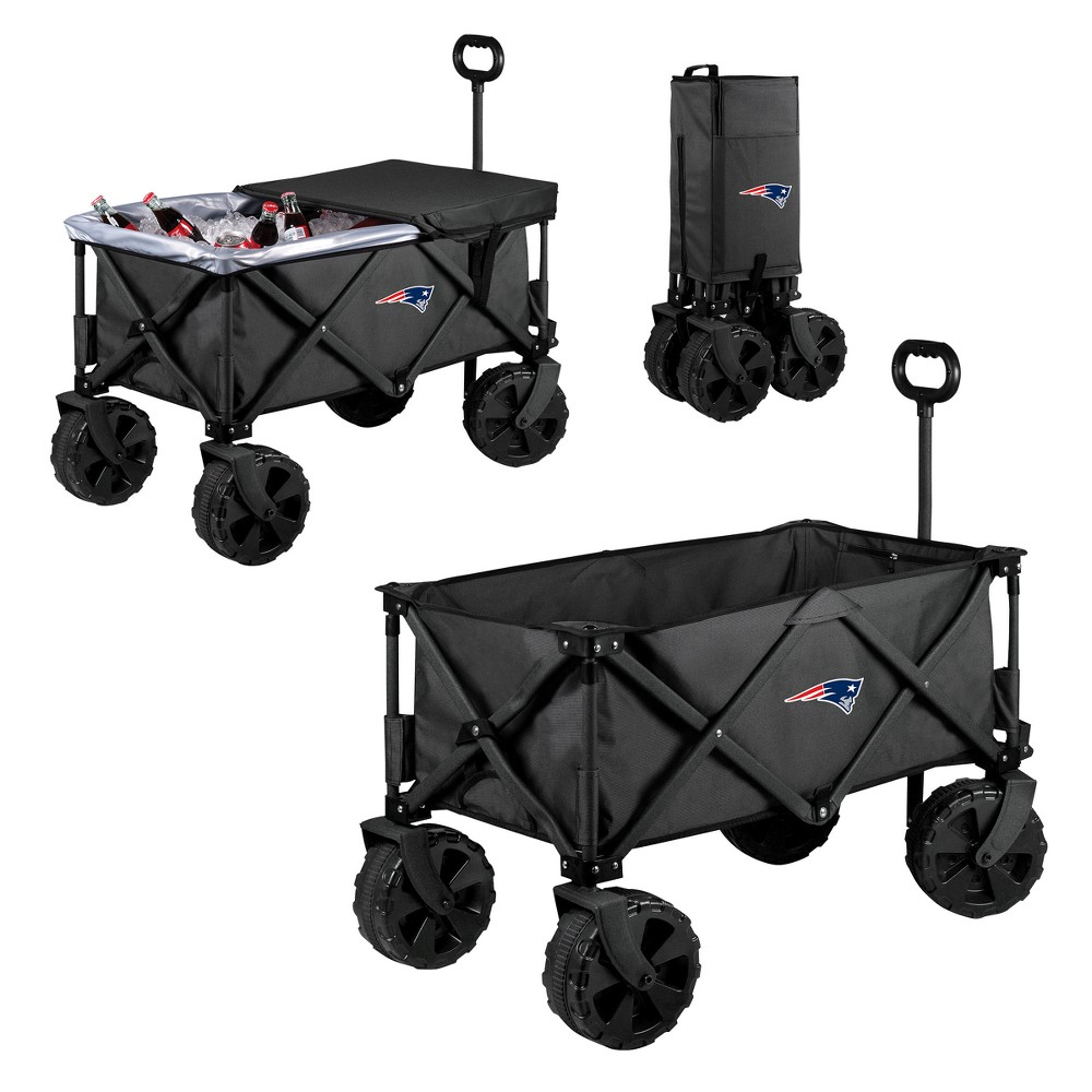 NFL New England Patriots Picnic Time Elite Cooler with All-Terrain Wheels - Dark Gray