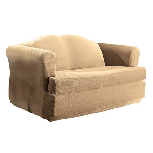 Stretch Pique 2pc T Sofa Slipcover - Sure Fit - image 1 of 2
