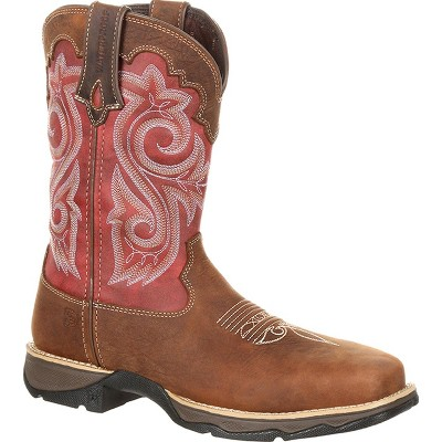 Lady Rebel by Durango Women's Red Waterproof Composite Toe Western Work Boot