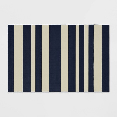 2'X3' Good Fashion Stripe Rug Navy - Room Essentials™