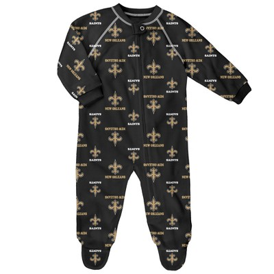 New Orleans Saints Newborn-Infant Blanket Zip-Up Sleeper 6-9 M