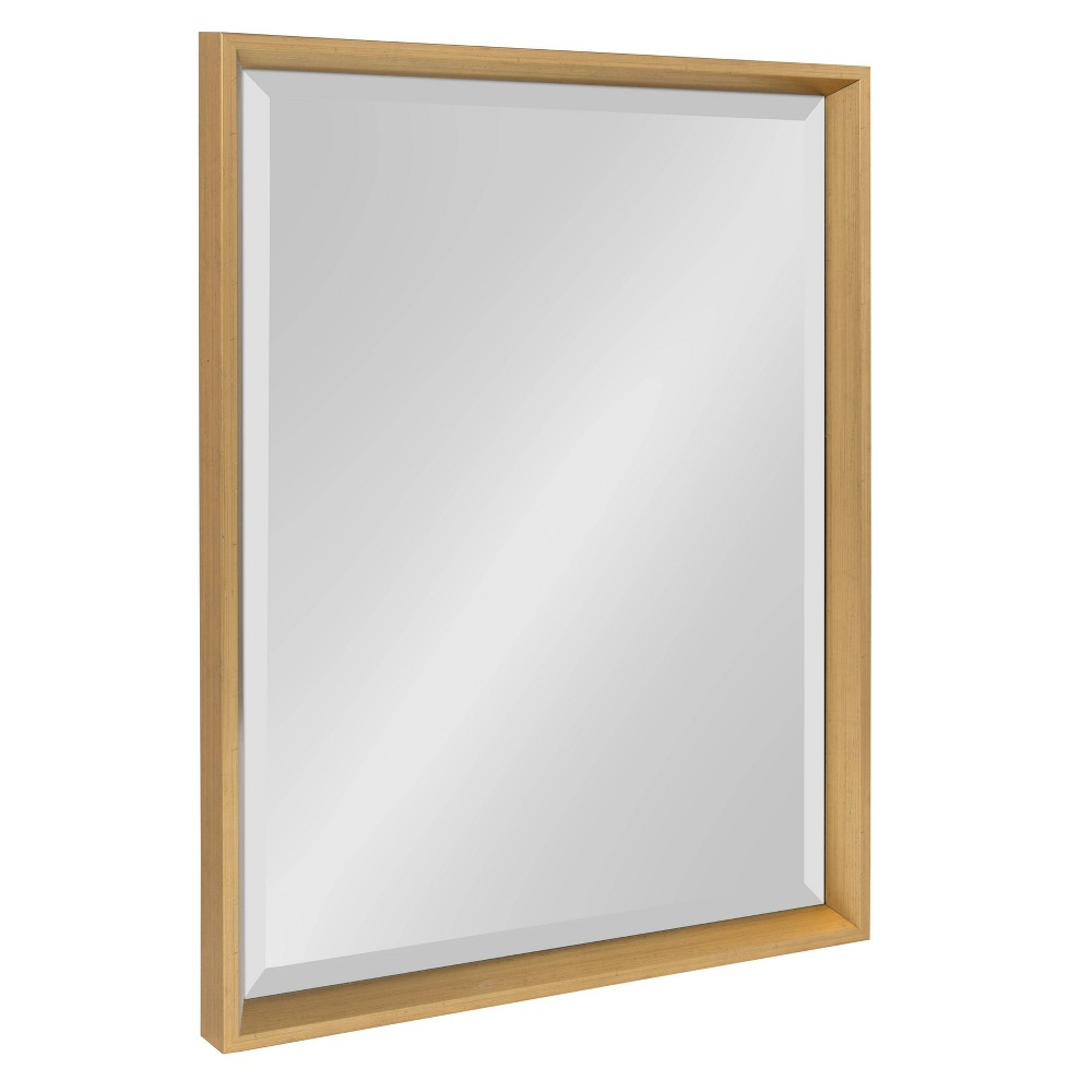 """Image of """"19.5""""""""x25.5"""""""" Calter Framed Wall Mirror Gold - Kate and Laurel"""""""