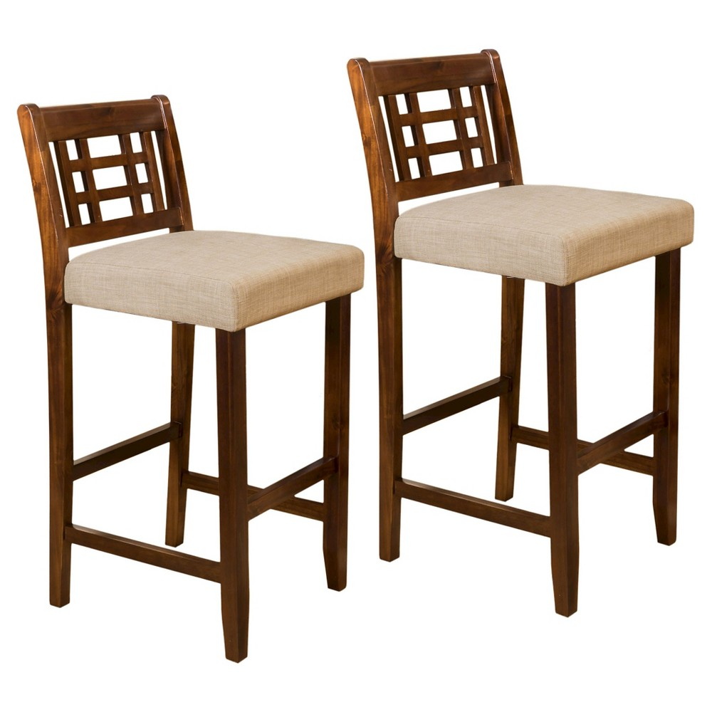 Set of 2 Mackinsey 30 Barstool - Brown / Gray - Christopher Knight Home