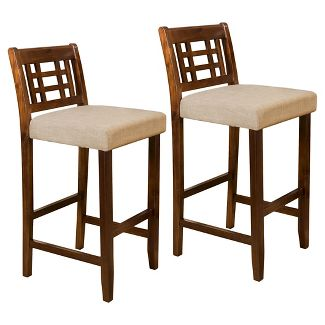 """Set of 2 Mackinsey 30"""" Barstool - Brown / Gray - Christopher Knight Home"""