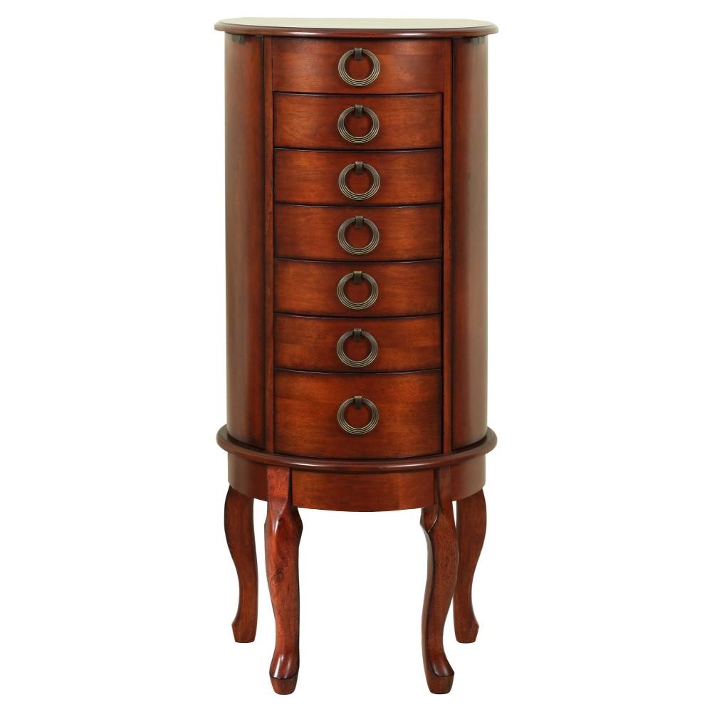 Raine Jewelry Armoire Cherry - Powell Company, Brown