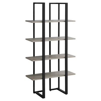 "60"" Metal Bookcase Dark Taupe - EveryRoom"