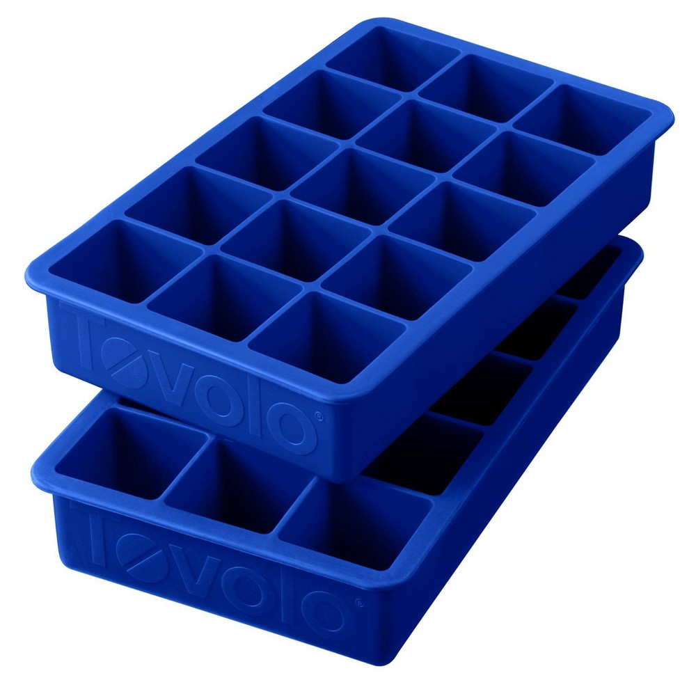 Image of Tovolo Perfect Cube Tray - 2pc - Blue