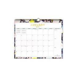 2020 Wall Calendar Floral Green - Day Designer for Blue Sky