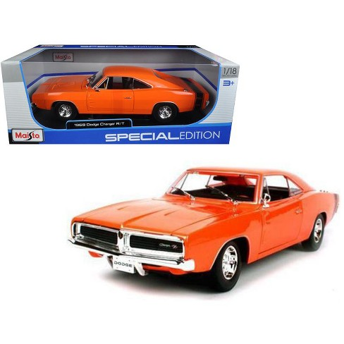 1969 Dodge Charger R/T Orange 1/18 Diecast Model Car by Maisto - image 1 of 1
