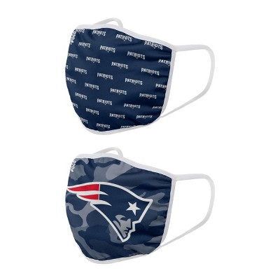 NFL New England Patriots Youth Face Covering 2pk
