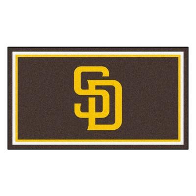 MLB San Diego Padres 3'x5' Plush Area Rug - Navy