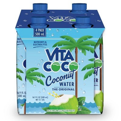 Vita Coco Original Coconut Water - 4pk/500ml Cartons