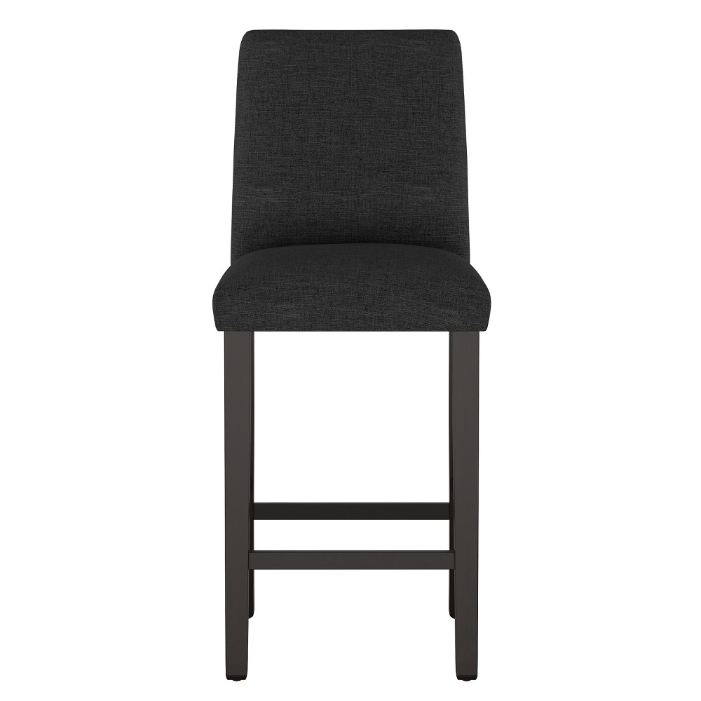 Modern Bar Stool Black Linen - Project 62