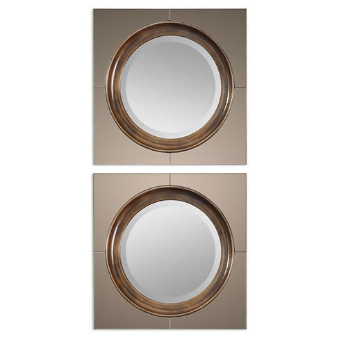 Round Gouveia Contemporary Mirror Set of 2 - Uttermost - image 1 of 1