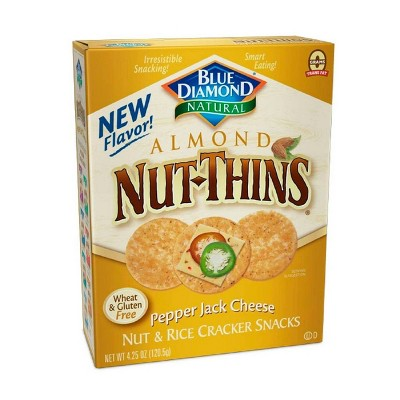 Blue Diamond Nut Thins Pepper Jack Cheese Crackers - 4.25oz