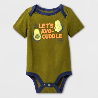 Baby Boys' Short Sleeve Bodysuit - Cat & Jack™ Green 3-6M